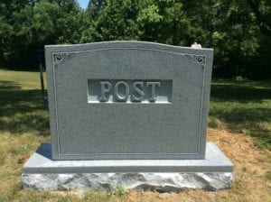 Polished Raised Lettering Style In Grey Granite