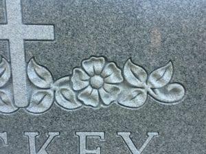Shaped Carving Example in Grey Granite