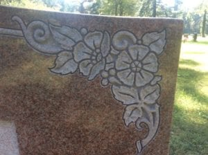 Shaped Carving Example in Red Granite